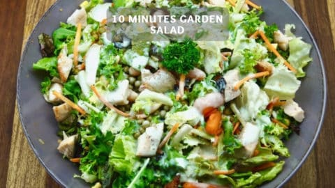 10 minutes garden salad - Healthy salad for barbecuing