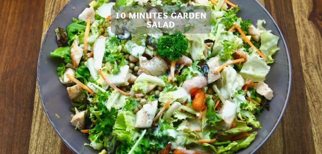 10 minutes garden salad