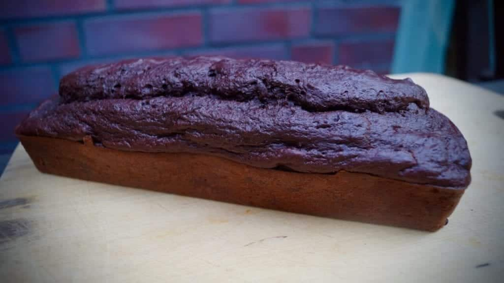 The finished kidney bean chocolate cake throughout