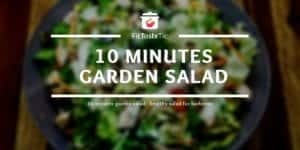 10 minutes garden salad - healthy salad for barbecue