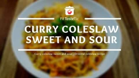 Sweet and sour coleslaw recipe - Oriental herb salad recipe