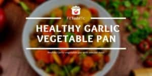 Healthy Garlic vegetable pan with minced meat