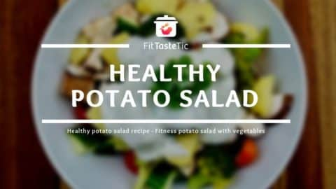 Healthy potato salad - Fitness potato salad with vegetables