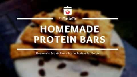 Homemade Protein Bars - Raisins Protein Bar Recipe