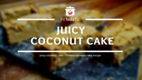 Juicy coconut cake - Light healthy coconut cake