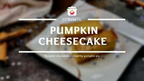 Festive Pumpkin Cheesecake - Healthy Pumpkin Cake