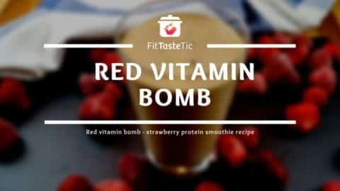 Strawberry Protein Smoothie Recipe - Red Vitamin Bomb