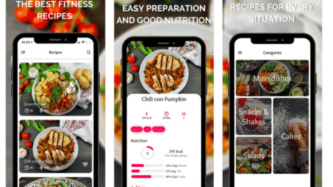 Fitness Recipes App - Light and delicious healthy food!