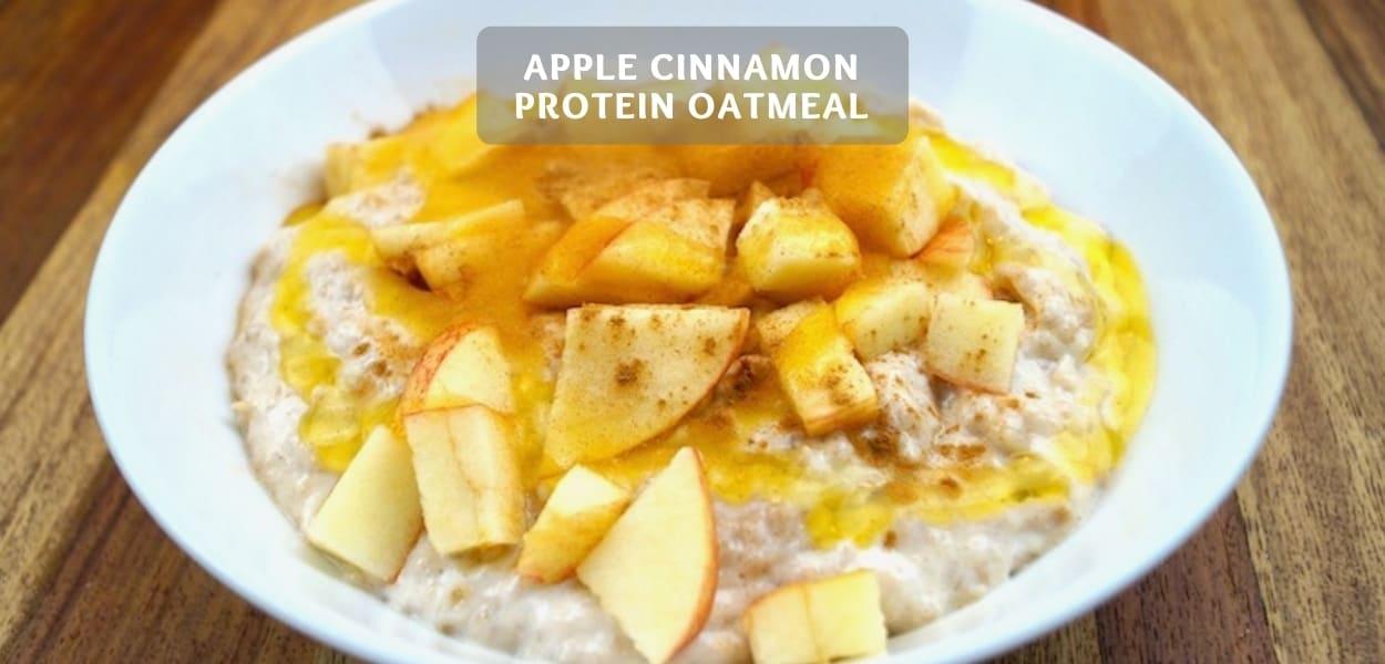 Apple Cinnamon Protein Oatmeal – Healthy Fitness Oatmeal Recipe!