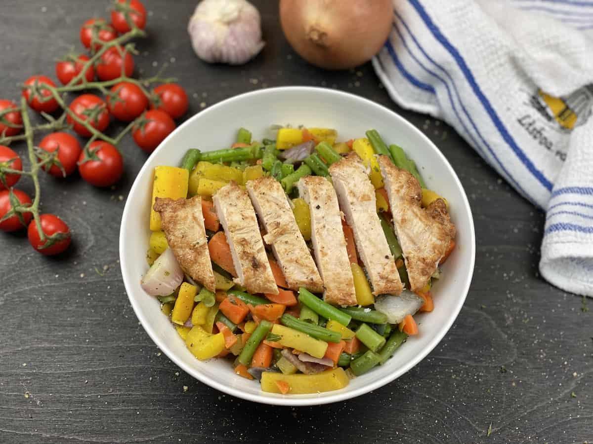 Colerfull Chicken Dish