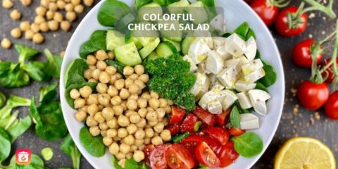 Colorful chickpea salad – Easy chickpea salad recipe