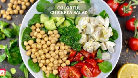 Colorful chickpea salad - Easy chickpea salad recipe