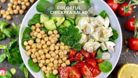 Colorful chickpea salad - Easy chickpea salad recipe