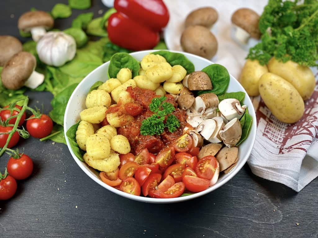 Gnocchi Bowl from the side