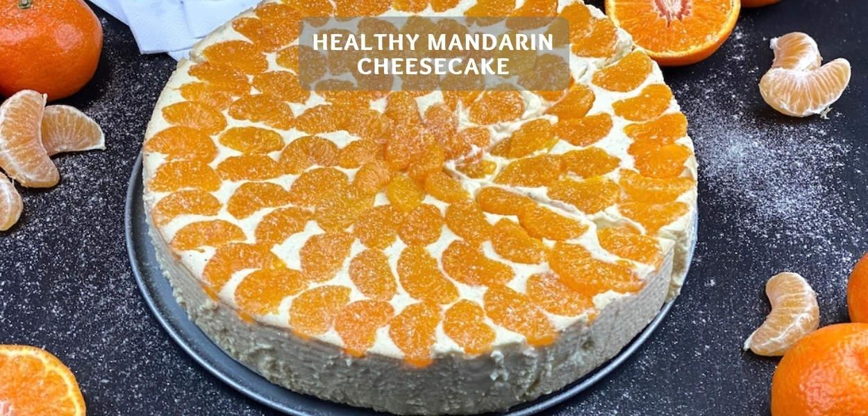 Healthy Mandarin Cheesecake