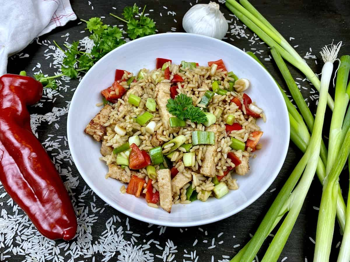 Healthy asian rice dish