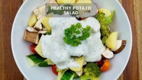 Healthy potato salad - Fitness potato salad with vegetables