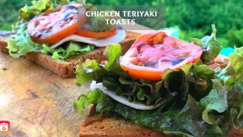 Chicken Teriyaki Toasts - Healthy Sandwich Recipe