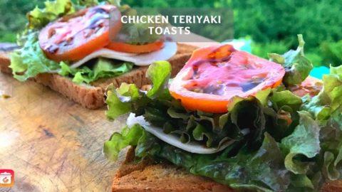 Chicken Teriyaki Toasts - Healthy Sandwich Recipe