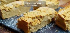 Juicy coconut cake