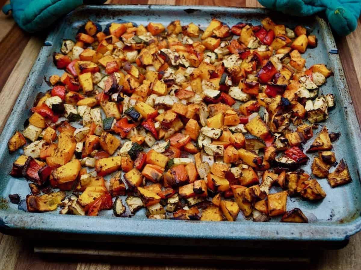 Oven Pumpkin Vegetables