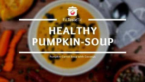 Healthy Pumpkin Soup - Pumpkin-Carrot-Soup with Coconut