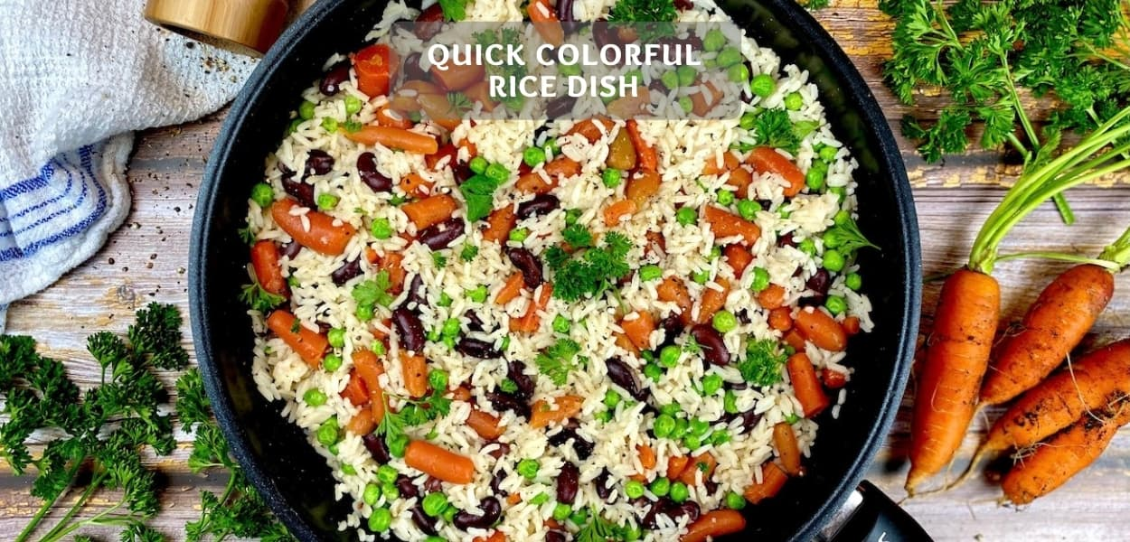 Quick Colorful Rice Dish