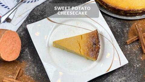Sweet Potato Cheesecake Recipe - Healthy Sweet Potato Cake!