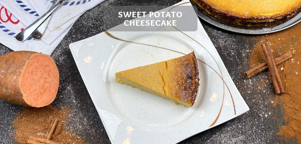 Sweet Potato Cheesecake Recipe – Healthy Sweet Potato Cake!