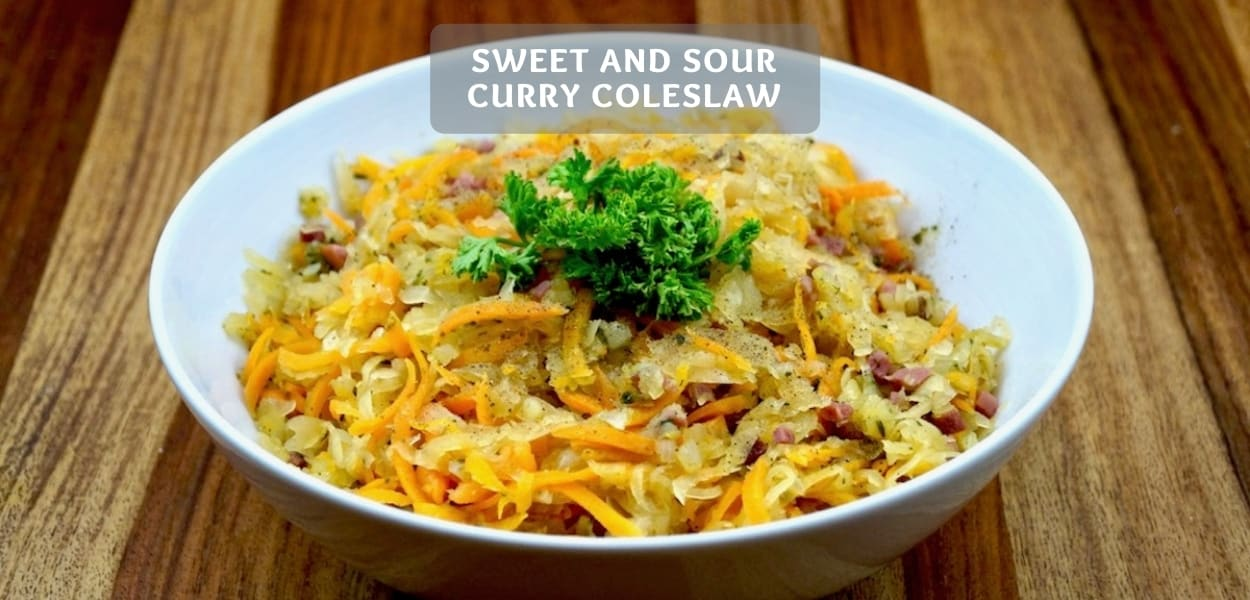 Sweet and sour coleslaw recipe – Oriental herb salad recipe