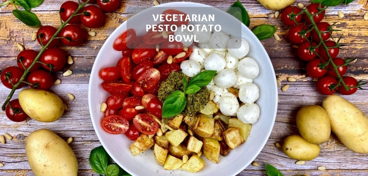 Vegetarian Pesto Potatoe Bowl