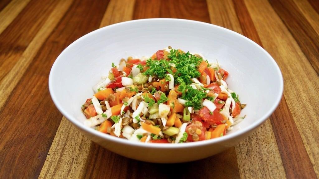 fitness lentil salad
