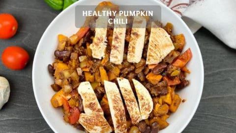 Chili with Pumpkin - healthy Pumpkin Chili Recipe