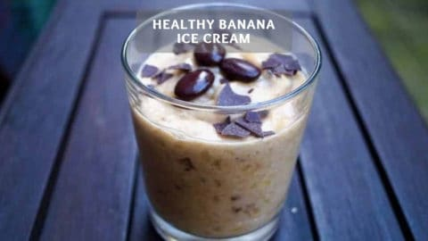 Make healthy banana ice cream yourself - Protein ice cream recipe